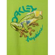 T-shirt Oakley Rock The Frogskins Tee Limone Green 1