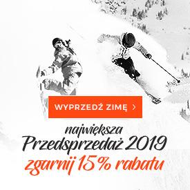 Kaski narciarskie Przedsprzedaż 2019, kupuj z rabatem 15%!