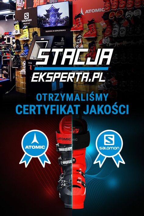 Posiadamy certyfikat Stacji Eksperta od marek Salomon i Atomic! Jesteś w jednym z najlepszych sklepów narciarskich w Polsce!