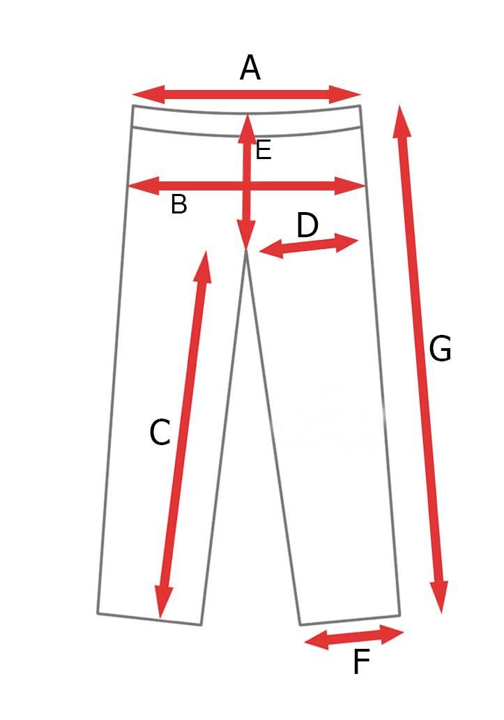 rozmiarówka długie spodnie